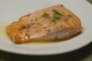 Salmong with Garlic Lime Butter Sauce1