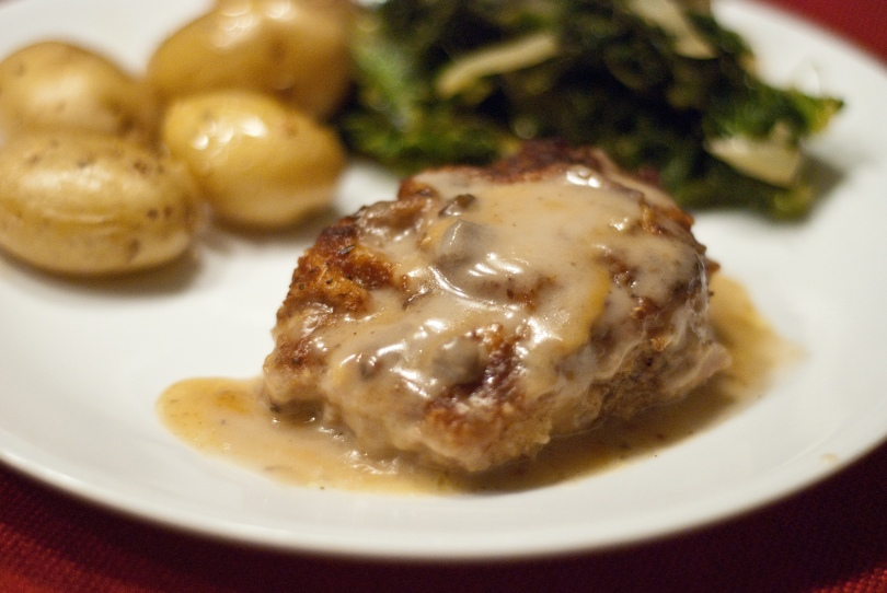 Baked Pork Chops with Mushroom Sauce | Mrs. T's Eats